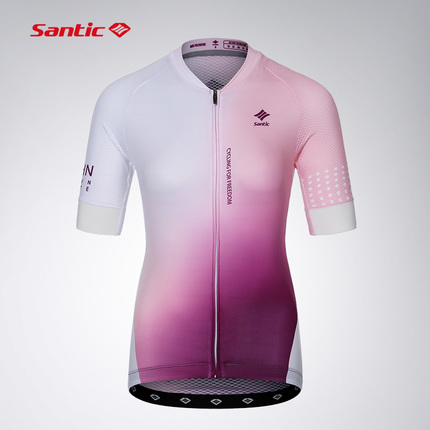 Santic森地客定制 春夏季骑行服短袖套装 专业版  女款