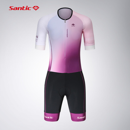 Santic森地客定制  专业铁人三项运动 短袖铁三服 女款